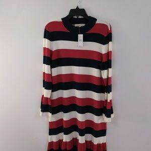 New LOFT Red White & Blue Stripe Knit Dress